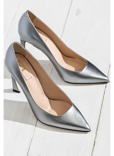 Elle Stiletto Ayakkabı Gri
